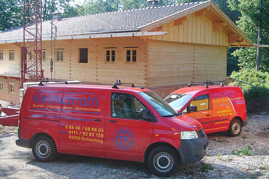 Neubau Schleching - Ausführung der Installationsarbeiten für Sanitärbereich