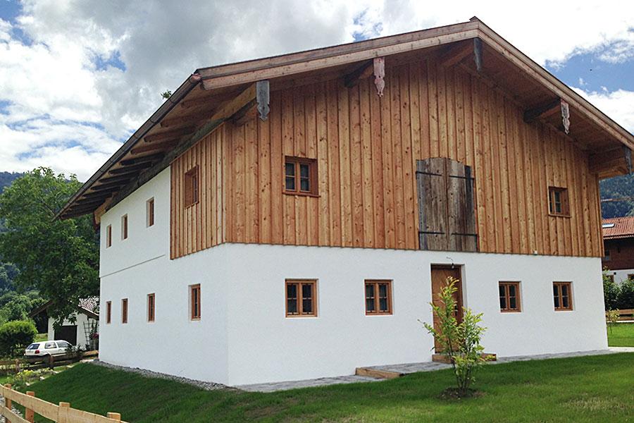 Neubau und Wiederaufbau in Schleching - komplette Ausführung der Sanitär- und Heizungsinstallation