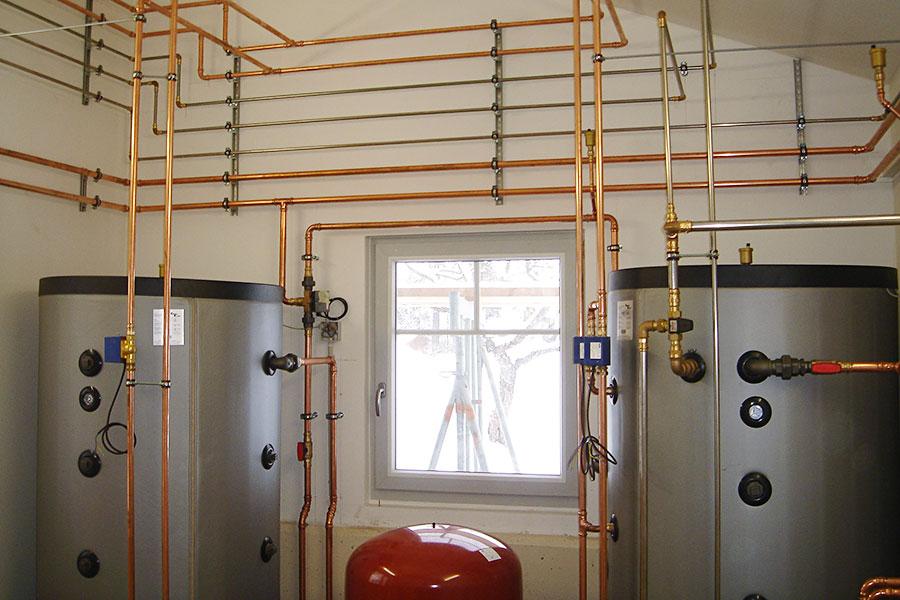 Installation einer Stückgutheizung und Solaranlage in Grabenstätt