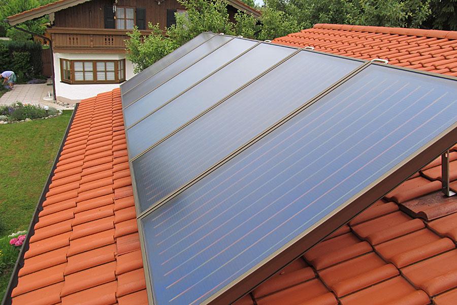 Solarthermie Marquartstein - Solaranlage für Warmwasser und Heizungsunterstützung