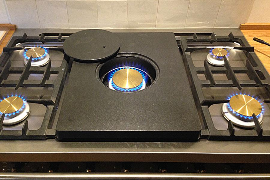Installation einer Flüssiggasanlage für Küchenherd in Schleching