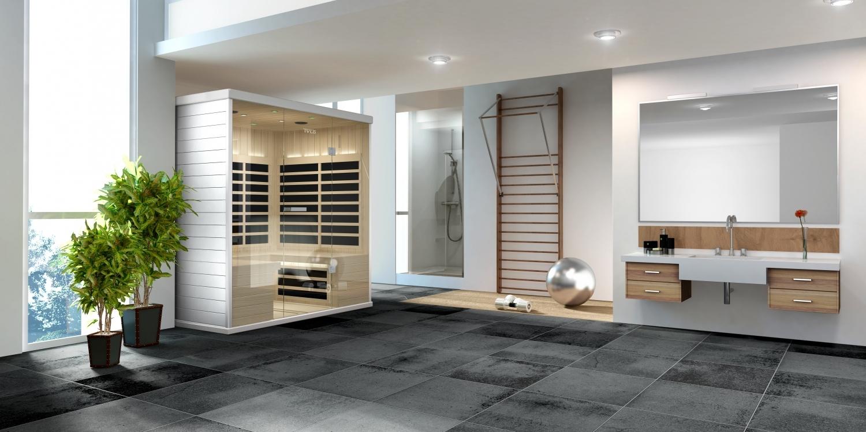 Infrarot-Sauna von Tylö in Fitnessraum